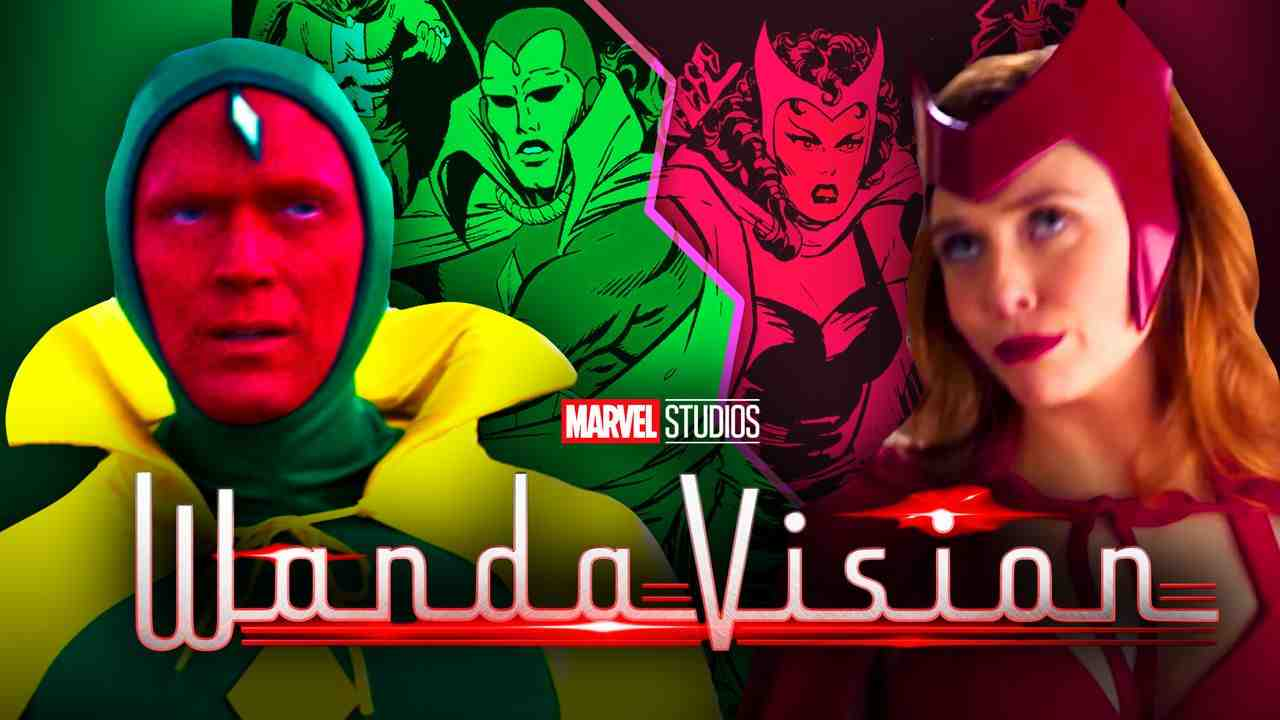 Vision and Wanda in their Halloween costumes, The Vision and the Scarlet Witch comic