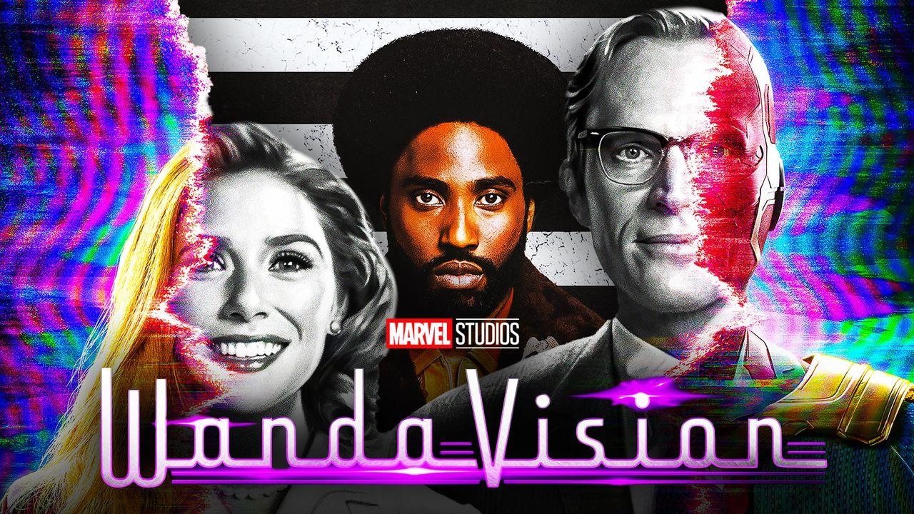 Elizabeth Olsen as Wanda Maximoff and Paul Bettany as Vision in WandaVision