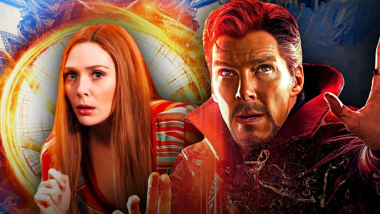 Elizabeth Olsen as Wanda Maximoff, Benedict Cumberbatch as Doctor Strange