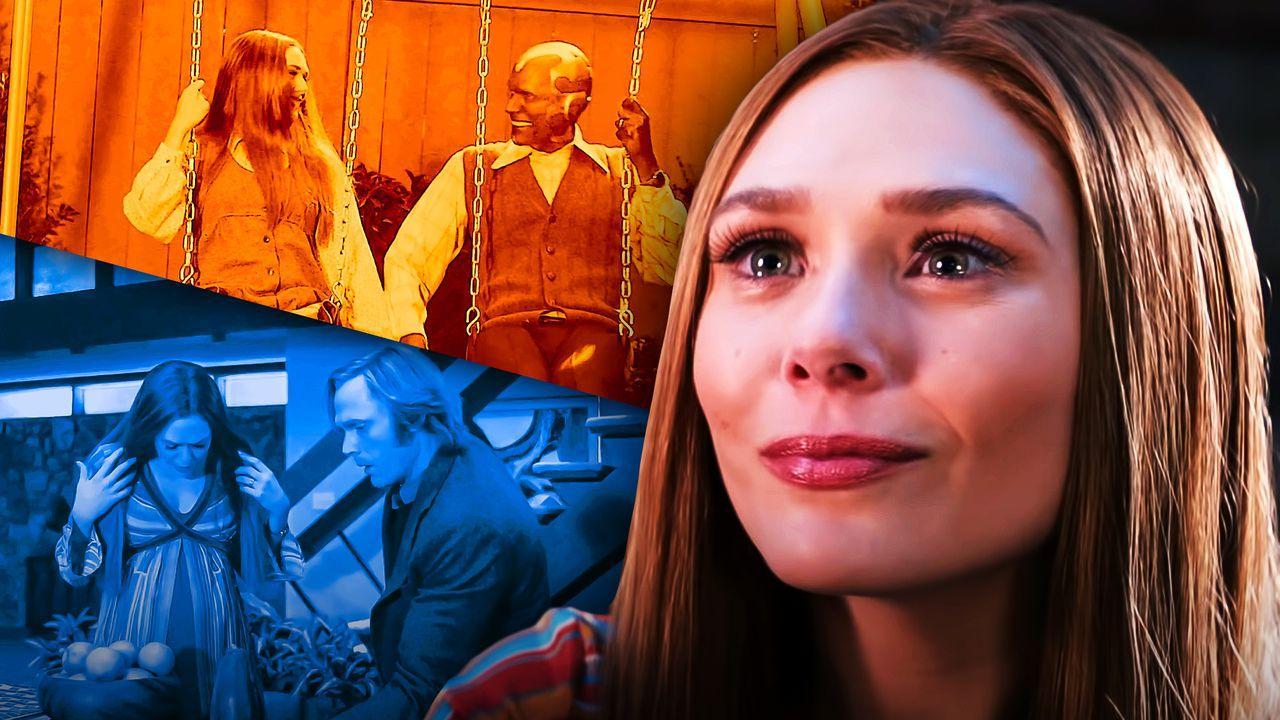 Elizabeth Olsen as Wanda Maximoff, Paul Bettany as Vision