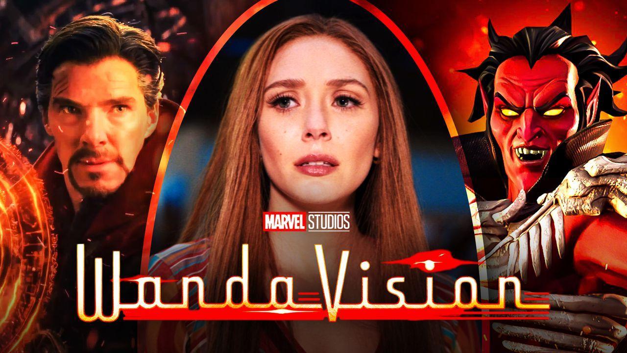 Doctor Strange, Wanda Maximoff, Mephisto, WandaVision logo