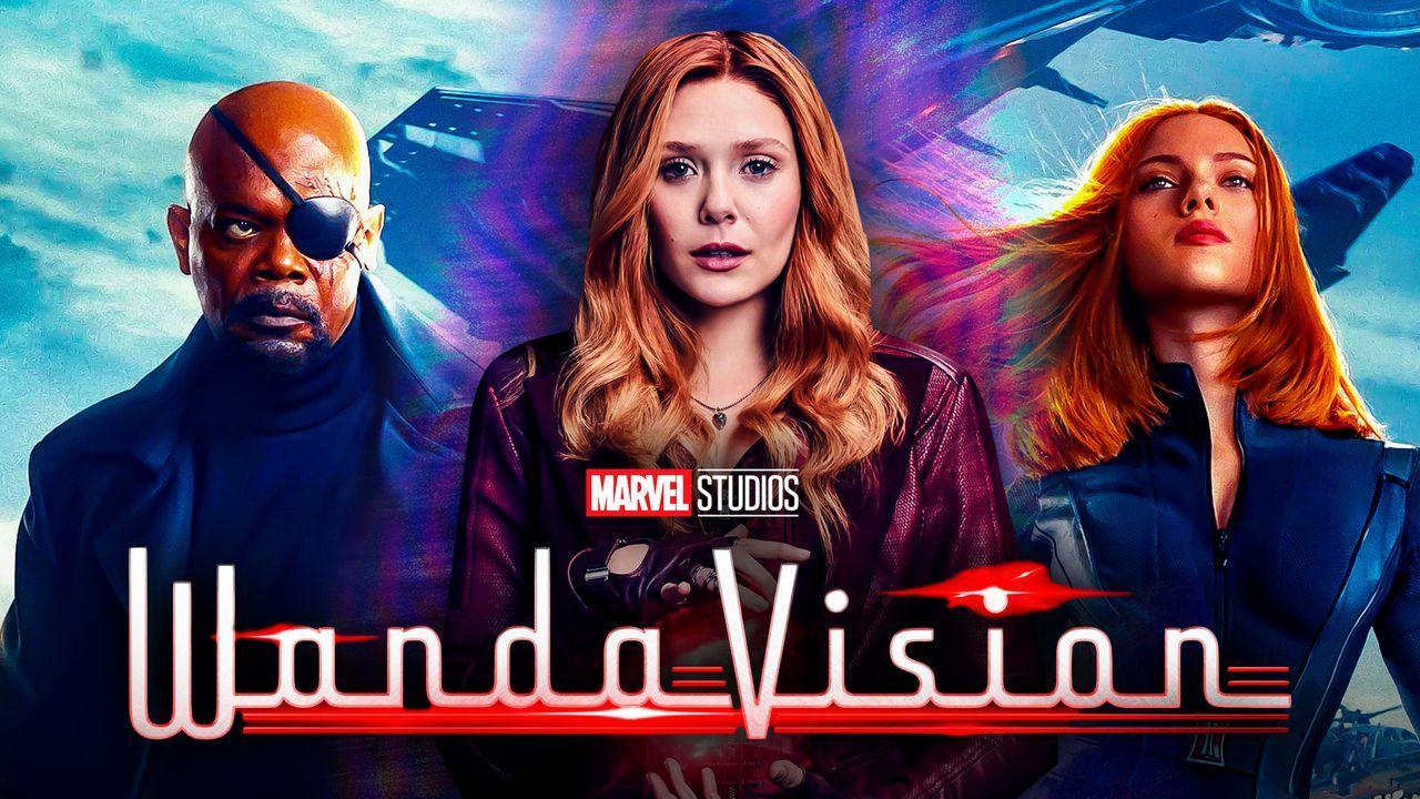 Scarlet Witch, Nick Fury, Black Widow, WandaVision