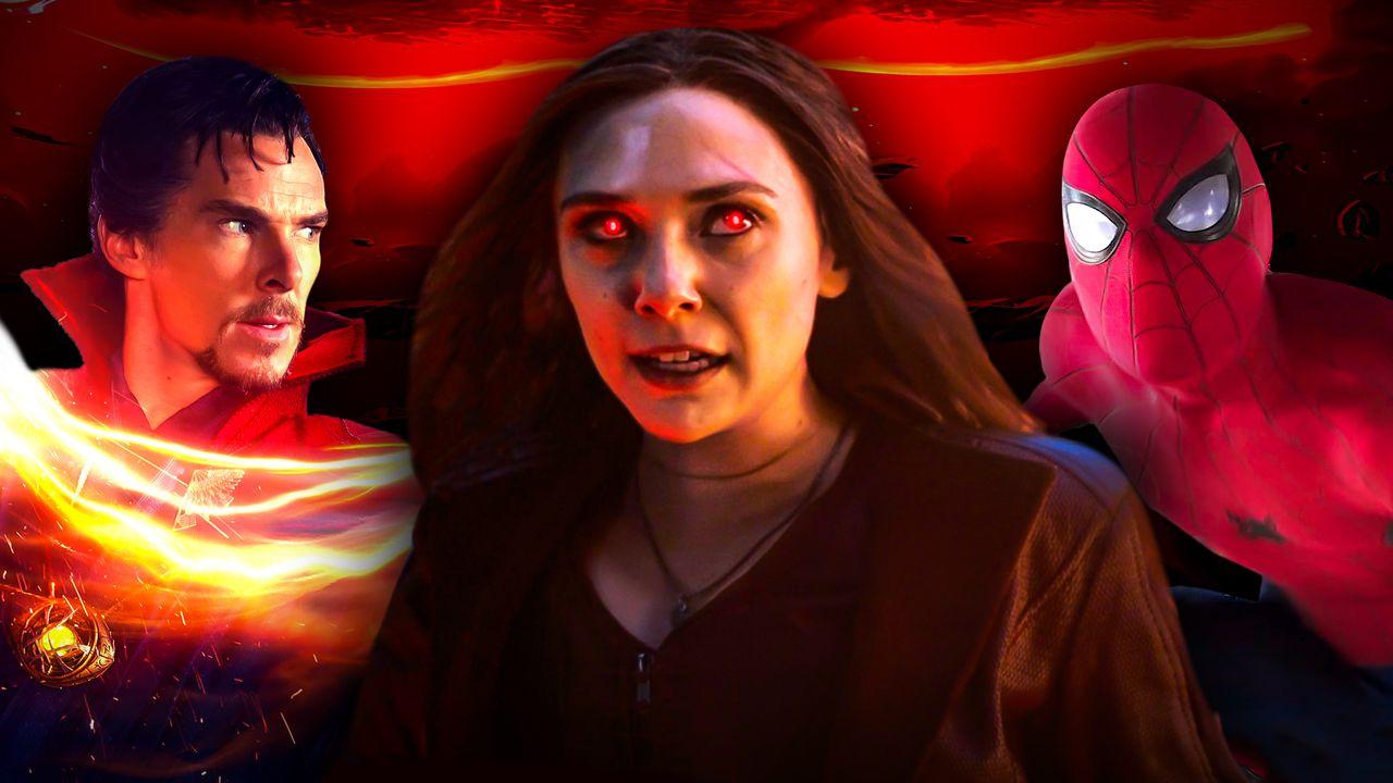 Doctor Strange, Scarlet Witch, Spider-Man
