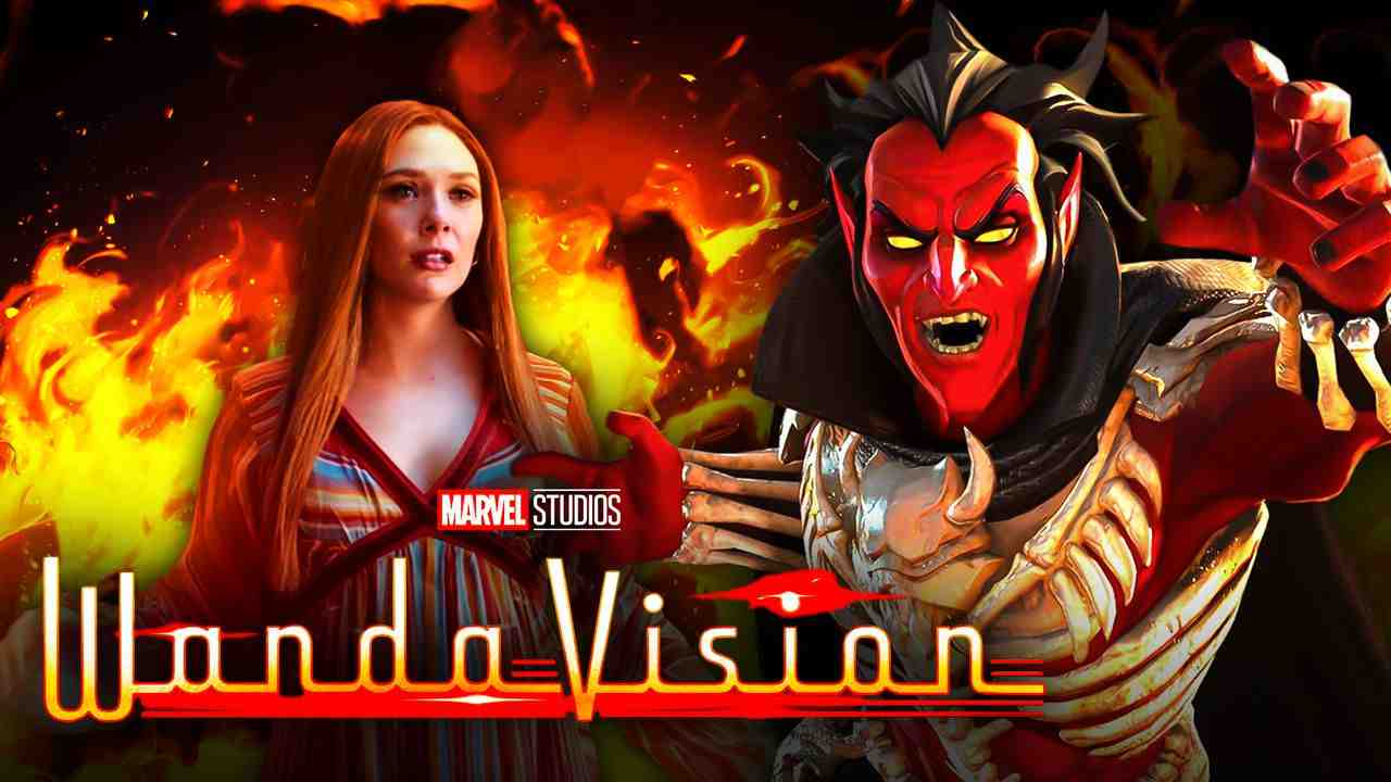Scarlet Witch, Mephisto, WandaVision logo