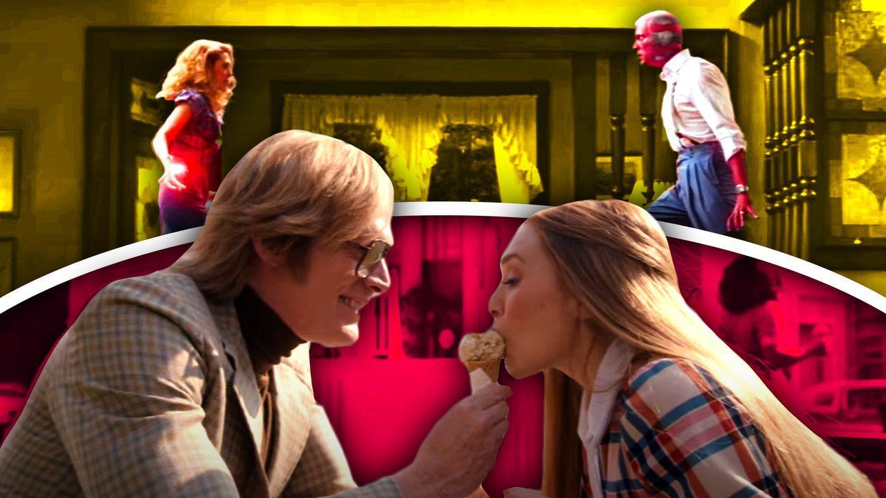 Elizabeth Olsen as Wanda, Paul Bettany as Vision