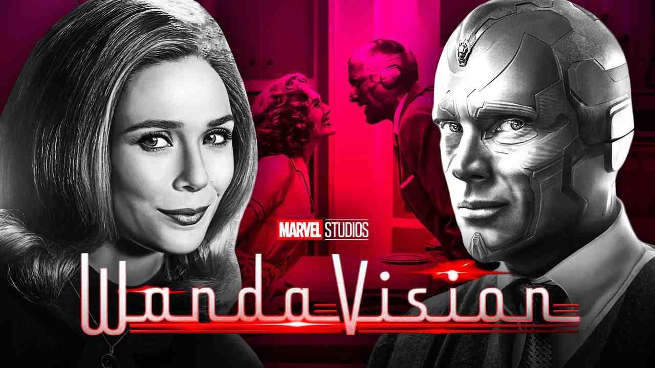 Scarlet Witch, Vision, WandaVision logo