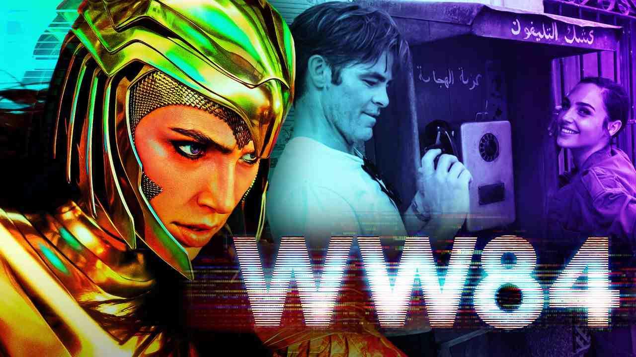 Gal Gadot as Wonder Woman, Chris Pine, Wonder Woman 1984 logo