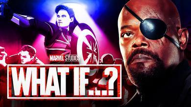 What If…? Logo, Samuel L. Jackson as Nick Fury, Captain Carter