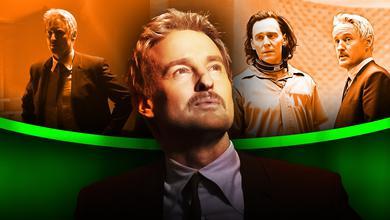 Tom Hiddleston as Loki, Owen Wilson as Mobius