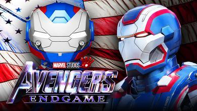 Iron Patriot Funko, Iron Man 3 Iron Patriot, Avengers Endgame Title Logo