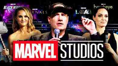 Marvel Studios logo, Kevin Feige, Natalie Portman, Angelina Jolie