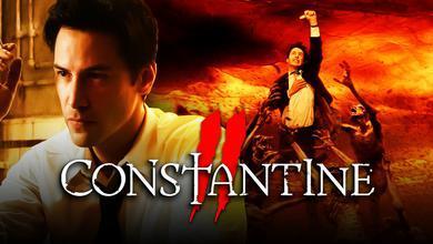 Constantine logo, Keanu Reeves as John Constantine