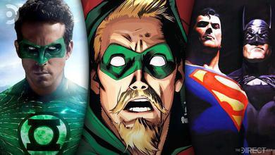 Ryan Reynolds Green Lantern, Green Arrow Comic, Superman and Batman from Justice League: Mortals