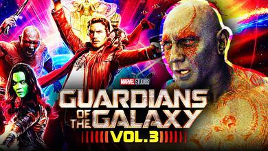 Dave Bautista as Drax, Guardians of the Galaxy Vol. 3 logo, Guardians of the Galaxy team
