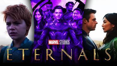 Eternals logo, Eternals team, Gemma Chan as Sersi, Sprite