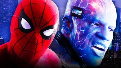 Spider-Man on left and Electro on right