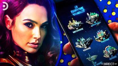 Gal Gadot as Wonder Woman, DC FanDome interface