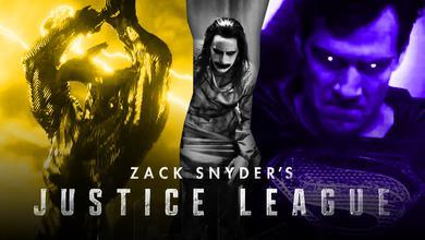 Zack Snyder's Justice League logo, Steppenwolf, Jared Leto as Joker, Henry Cavill as Superman