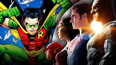 Robin, The Flash, Wonder Woman, Superman, Batman