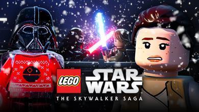 LEGO Star Wars logo, Rey, Darth Vader