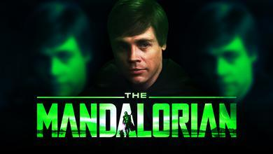 Luke Skywalker Mark Hamill The Mandalorian logo