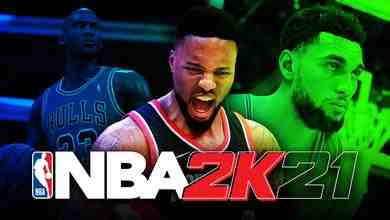 Michael Jordan, Damian Lillard, Zach Lavine, NBA2K21 logo