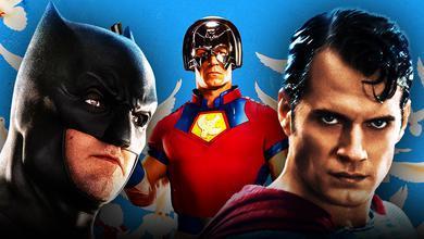 John Cena as Peacemaker, Ben Affleck as Batman, Henry Cavill as Superman