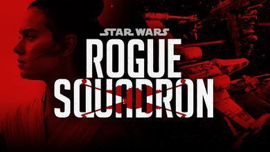 Rogue Squadron logo, Daisy Ridley as Rey