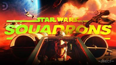 Star Wars: Squadrons Logo, Rebel Pilot on an X-Wing