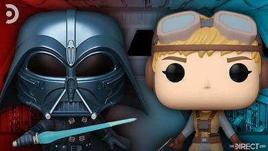 Star Wars Funko Pops of Darth Vader and Starkiller, based on Ralph McQuarrie's concept art