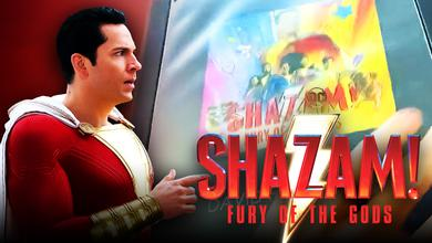 Shazam 2 Fury of the Gods Logo Background