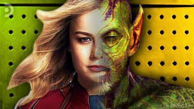 Half face of Captain Marvel, Half face of Skrull