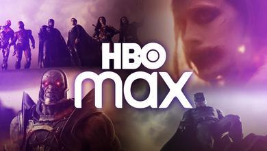 Joker, Darkseid, Batman and the Justice League with HBO Max Logo
