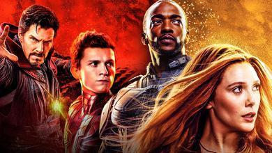 Doctor Strange, Spider-Man, Falcon, Scarlet Witch
