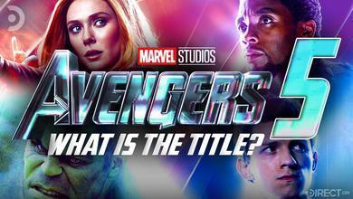 Avengers 5 logo, Scarlet Witch, Black Panther, Hulk, Spider-Man