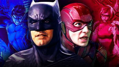 Ben Affleck's Batman and Ezra Miller's Flash in Justice League