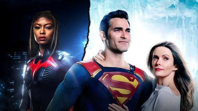 Javicia Leslie as Batwoman, Tyler Hoechlin as Superman, Elizabeth Tulloch as Lois Lane