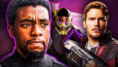 Chadwick Boseman TChalla Star Lord Chris Pratt Guardians of the Galaxy