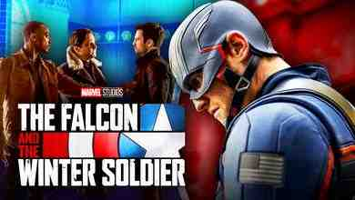 Falcon and the Winter Soldier logo, Wyatt Russell as Captain America, Sam Wilson, Bucky Barnes, Zemo