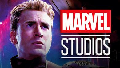 Chris Evans as Captain America, Marvel Studios logo