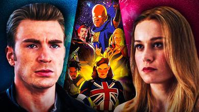 Chris Evans Captain America Brie Larson Captain Marvel