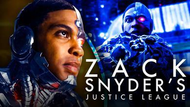 Ray Fisher as Cyborg, Zack Snyder's Justice League logo