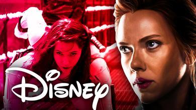 Black Widow Disney logo