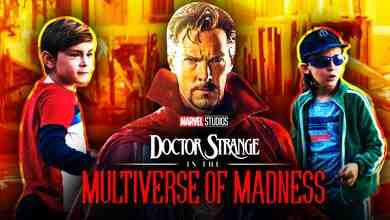 Benedict Cumberbatch as Doctor Strange, Billy and Tommy Maximoff, Doctor Strange 2 logo