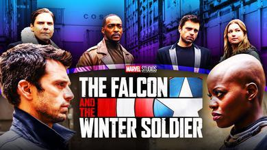 Falcon, Zemo, Bucky, Sharon, Ayo, The Falcon and the Winter Soldier.