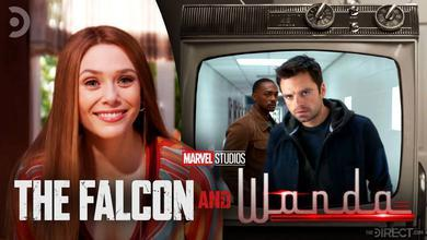 Wanda smiling with Falcon and Winter Solider inside television