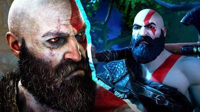 Kratos in God of War and Fortnite