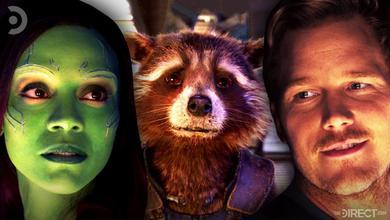 Gamora, Rocket, and Peter Quill