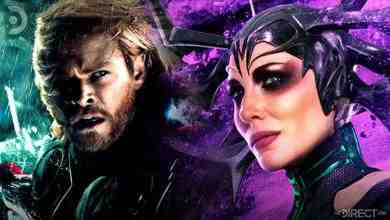 Thor portrayed by Chris Hemsworth, and Hela portrayed by Cate Blanchett