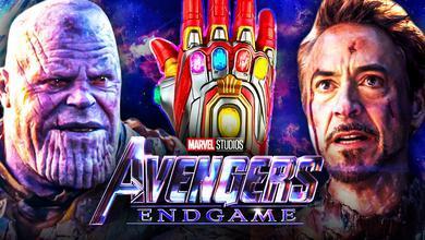 Avengers Endgame Thanos Iron Man Gauntlet